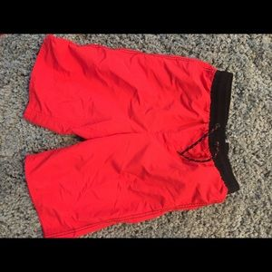 boys red bathing suit